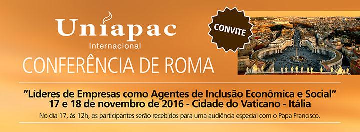 Save the date – Conferência de Roma