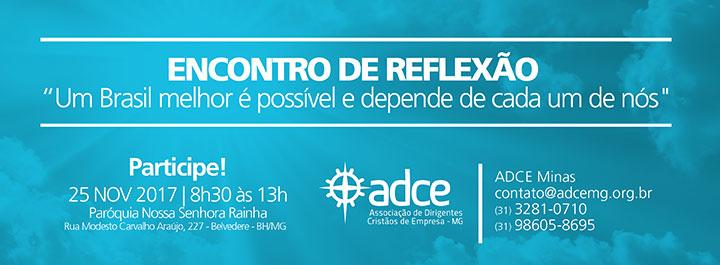 Convite ADCE Minas – 44º Encontro de Reflexão, 25 de novembro