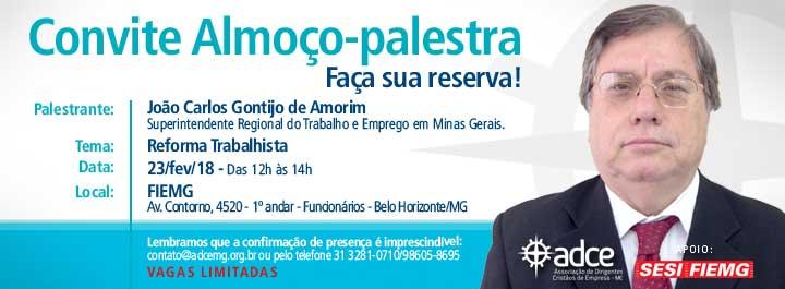 Almoço-palestra com João Carlos Gontijo de Amorim